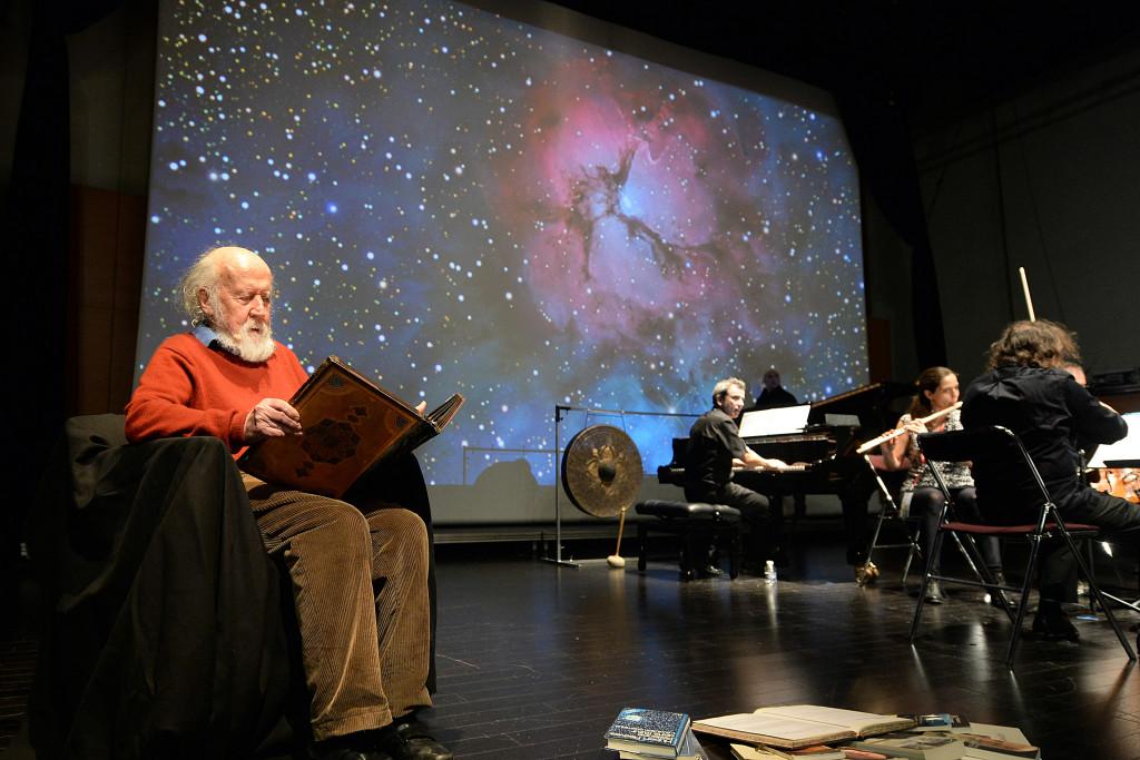 Folle journée de Nantes 2016 , cette année le thème est la nature. Hubert Reeves et l'ensemble Calliopée presentent cosmophonies. Photo : Marc ROGER Mention obligatoire